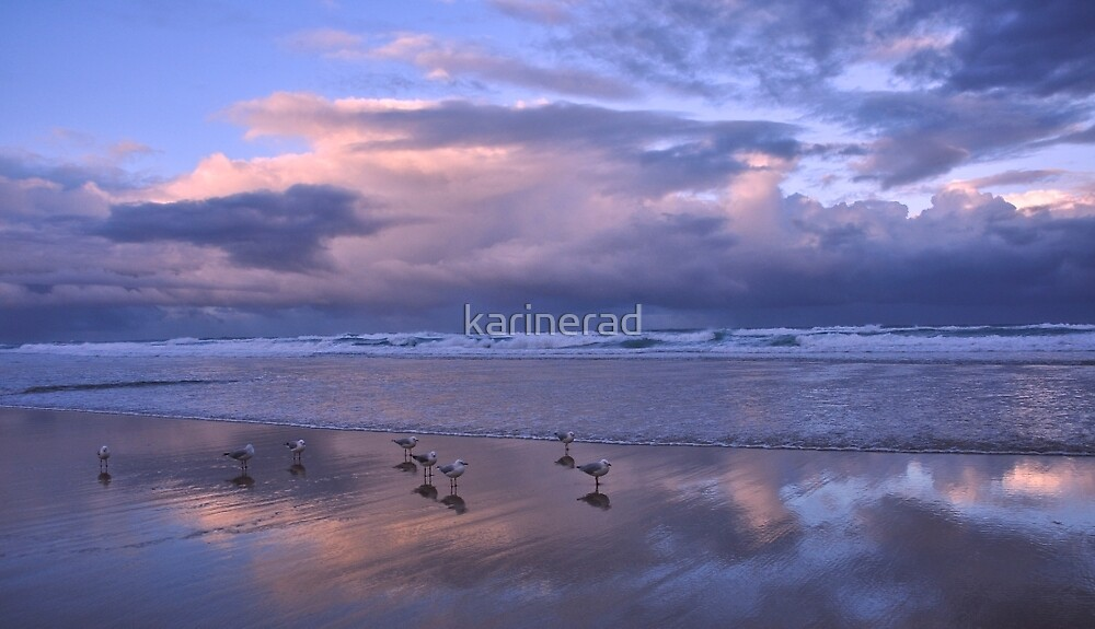 Evening on the beach by Karine Radcliffe