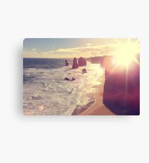 Twelve Apostles with Sun Flare Port Campbell National Park Australia Canvas Print