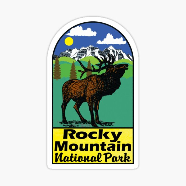 ROCKY MOUNTAIN NATIONAL PARK COLORADO ELK HIKING CLIMBING CAMPING 2 Sticker