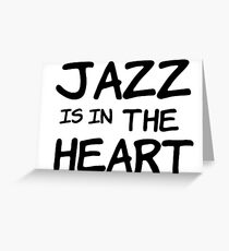 cool jazz is in the heart music t shirts Greeting Card