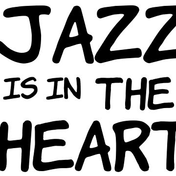 cool jazz is in the heart music t shirts by MrAnthony88