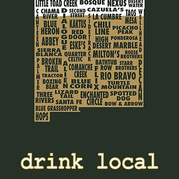New Mexico Drink Local Beer T-shirt by uncmfrtbleyeti