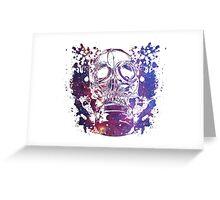 Gas Mask Galaxy Greeting Card