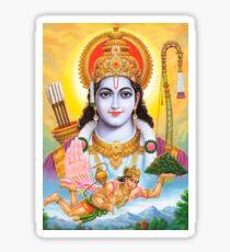 Lord Shri Rama, Rama Krishna, Hindu Oriental Indian art Sticker