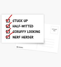 Han Solo To-Do List: Postcards