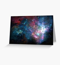 Galaxy print Greeting Card