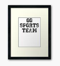 Go Sports Team Framed Print
