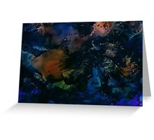 Blue Monday | Alcohol Ink Abstract Greeting Card