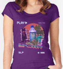 Vaporwave Fiji Bottle Women's Fitted Scoop T-Shirt