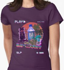 Vaporwave Fiji Bottle Women's Fitted T-Shirt