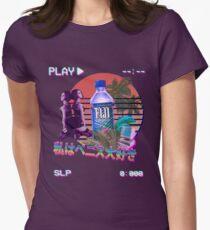 Vaporwave Fiji Bottle Fitted T-Shirt