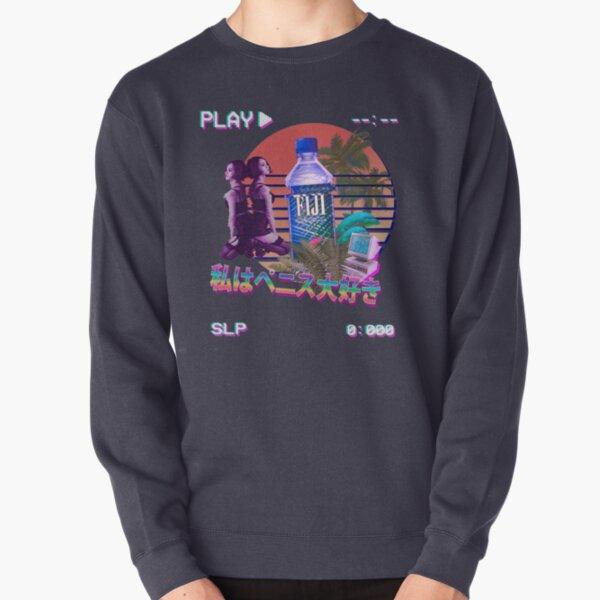 Vaporwave Fiji Bottle Pullover Sweatshirt