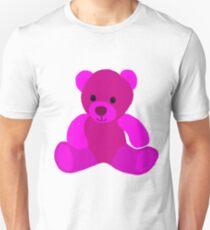 Bright Pink Teddy Bear Unisex T-Shirt