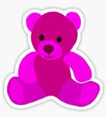 Bright Pink Teddy Bear Sticker