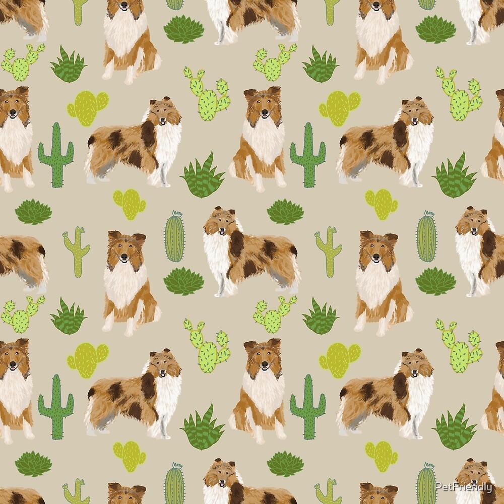 rough collie cactus design by PetFriendly
