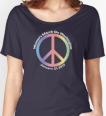 Women's March On Washington Peace Sign Women's Relaxed Fit T-Shirt