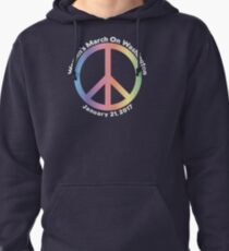 Women's March On Washington Peace Sign Pullover Hoodie