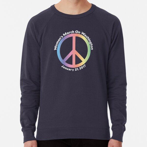 Women's March On Washington Peace Sign Lightweight Sweatshirt