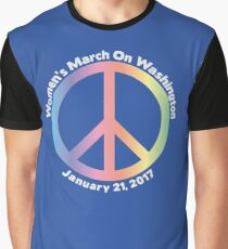 Women's March On Washington Peace Sign Graphic T-Shirt