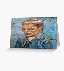 Tom Brady Van Gogh Greeting Card