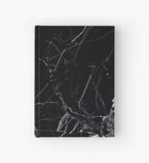 Marble black Hardcover Journal