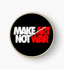 Make Art Not War Clock