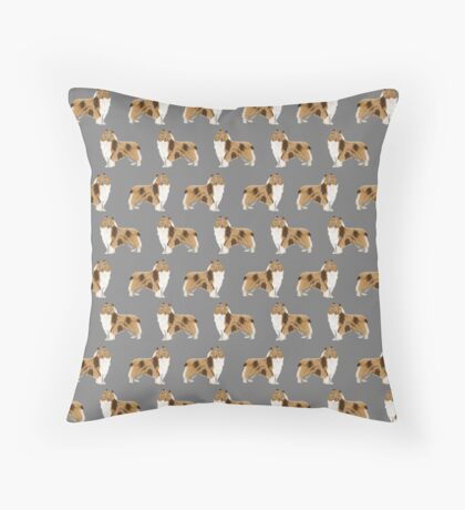 rough collie dog design dog pattern dog print rough collies gifts accessories Throw Pillow