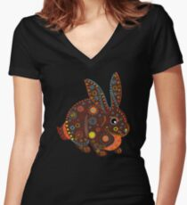 Easter Bunny Women's Fitted V-Neck T-Shirt