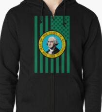 Washington State Flag Grafik USA Styling Kapuzenjacke