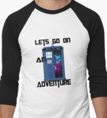 TARDIS- Let's go on an adventure #1 Men's Baseball ¾ T-Shirt