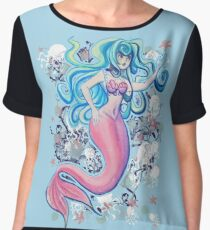 Pink Tailfin Mermaid Chiffon Top