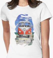 Eyre Peninsula, Beach Kombi Women's Fitted T-Shirt