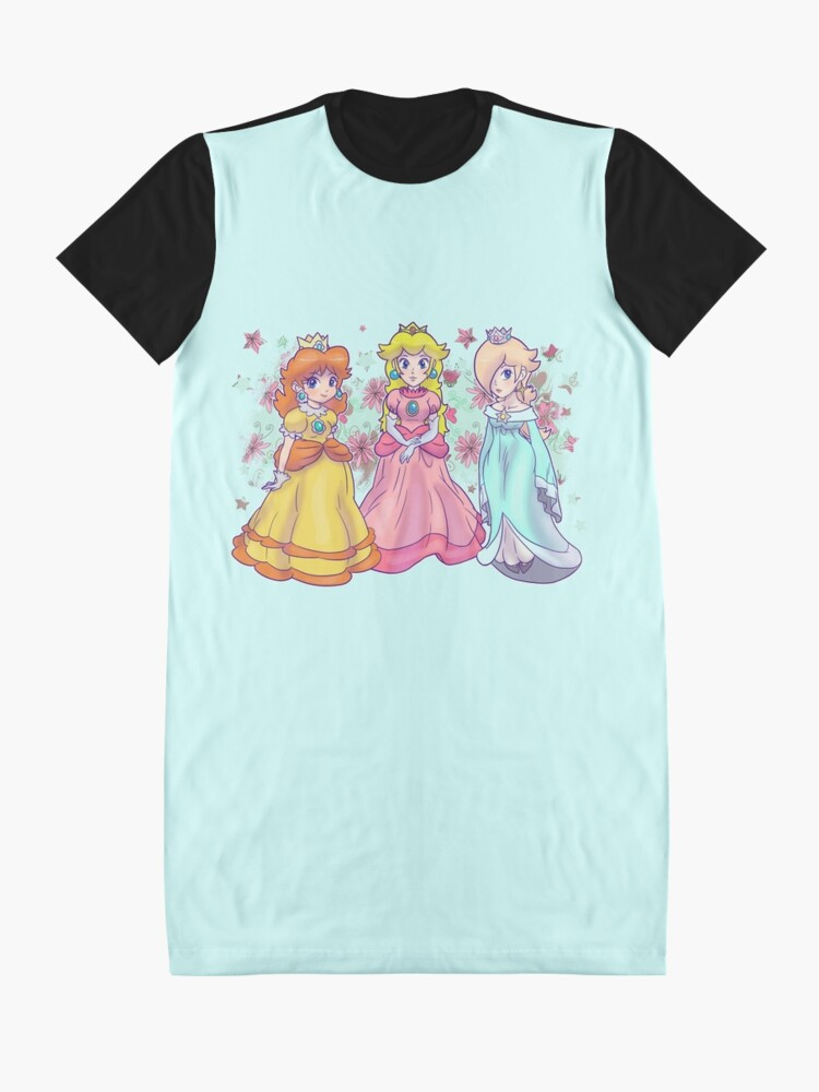 Alternative Ansicht von Prinzessin Peach, Daisy und Rosalina T-Shirt Kleid