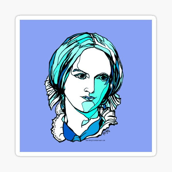 Charlotte Bronte British author Sticker