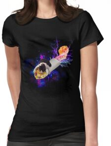 Breakfast Burrito Space Cat! Womens Fitted T-Shirt