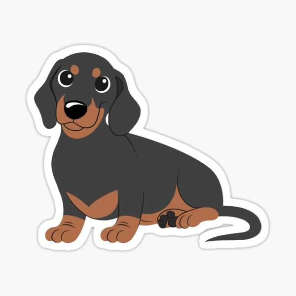 Miniature Dachshund - Black & Tan Sticker