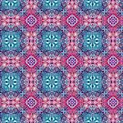 Pink and Blue Victorian Print by Ruth Moratz