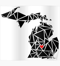 Michigan Geometric Poster