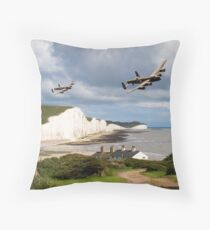 Nine Sisters - Lancasters over the south coast Throw Pillow