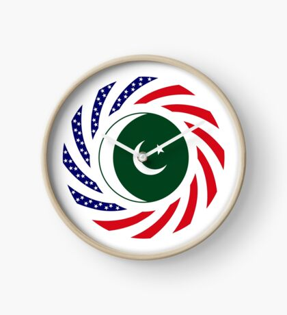 Pakistani American Multinational Patriot Flag Series Clock