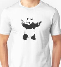 Banksy - armed Panda Bear T-Shirt