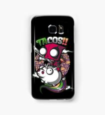 "Deadpool ""Tacos!!"" Riding a Unicorne Samsung Galaxy Case/Skin"
