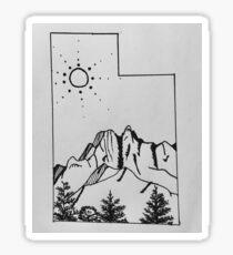 Utah Line Drawing Sticker
