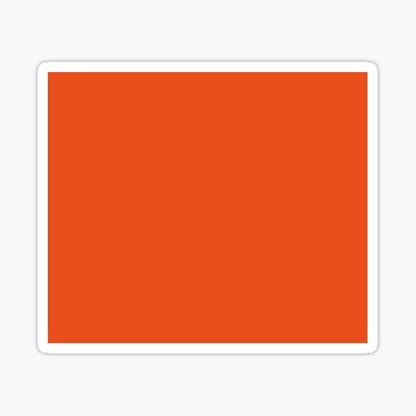 Burnt Orange | Solid Color |  Sticker