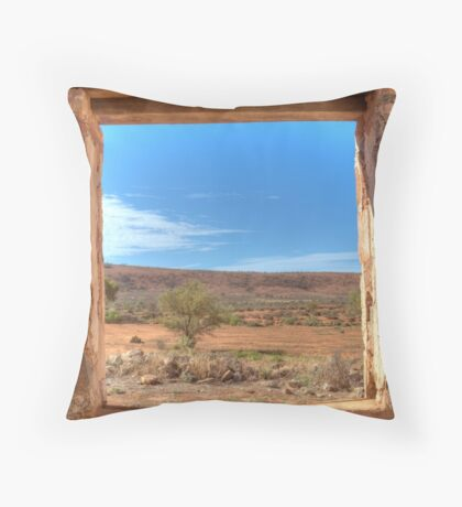 View Through an Outback Australian Window Throw Pillow