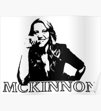 Kate McKinnon Black and White Poster