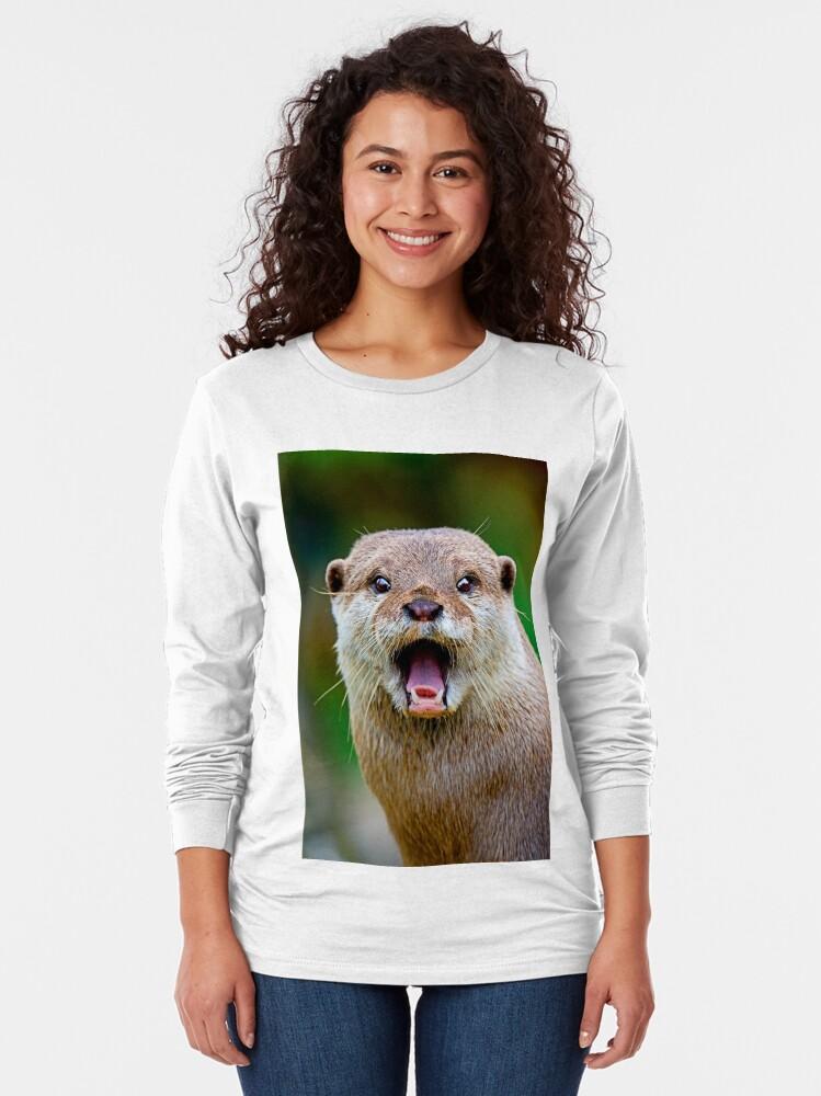 Alternate view of Otter Long Sleeve T-Shirt