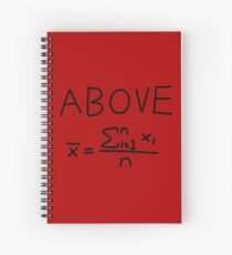 Above Average Spiral Notebook