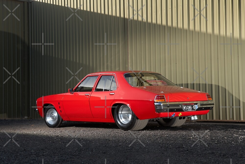 Red Holden HZ by John Jovic