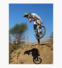 Downhill mountain biker Photographic Print